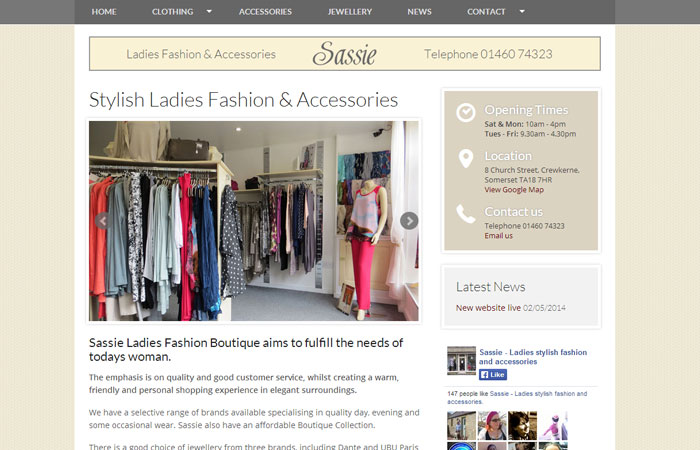 Sassie Boutique Website