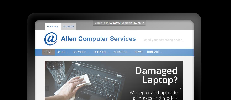 Allen Computer Services website