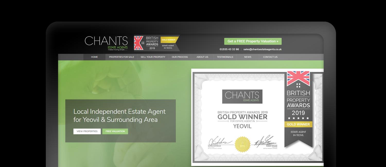 Chants Estate Agents website